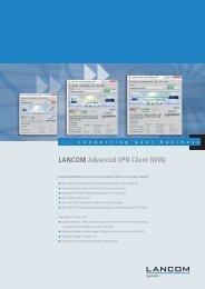 LANCOM Advanced VPN Client (WIN) - LANCOM Systems