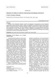 Utilization of a silkworm model for understanding host-pathogen ...