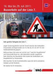 Bus SEV 7 Tristanstraße - Schweiggerstr. - Scheurlstr ... - VAG