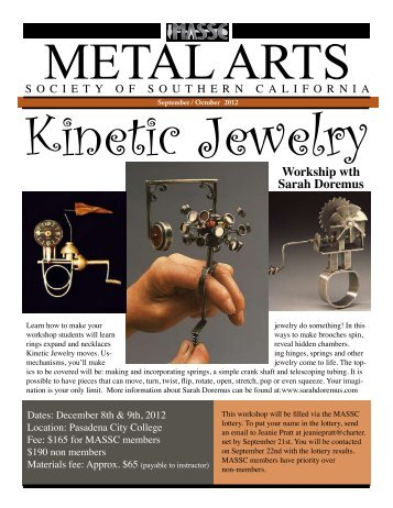 September/October 2012 - The Metal Arts Society of Southern ...