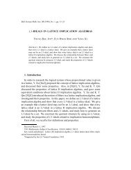 LI-IDEALS IN LATTICE IMPLICATION ALGEBRAS 1. Introduction In ...