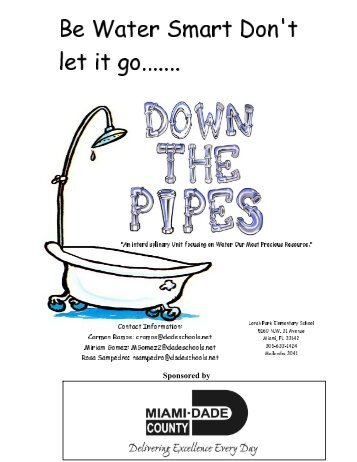 Be Water Smart: Don't Let It Go Down the Pipes - The Education Fund