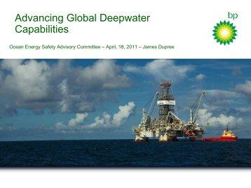 Advancing Global Deepwater Capabilities - BSEE