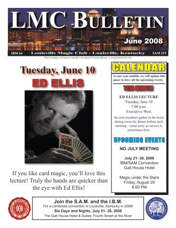 June 2008 - Louisville Magic Club