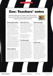 Zoo: Teachers' notes - Scholastic