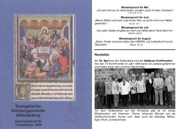 2008 - Evangelische Kirchengemeinde Altlandsberg