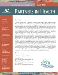PARTNERS IN HEALTH - Holy Cross Hospital