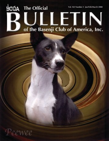 BCOA Bulletin January-February-March 2008 - the Basenji Club of ...