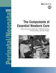 The Components of Essential Newborn Care - basics