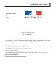 Revue de presse du 6 au 12 mai 2013 final (2) - Ambassade de ...