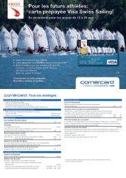Pour les futurs athlètes: carte prépayée Visa Swiss Sailing!