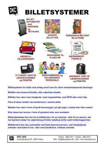 BILLETSYSTEMER - DKC