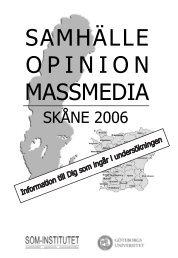 SAMHÄLLE OPINION MASSMEDIA - SOM-institutet - Göteborgs ...