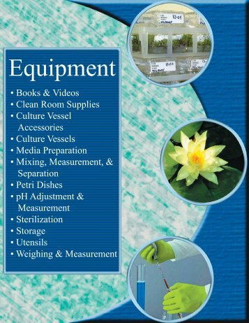 Equipment - PhytoTechnology Laboratories