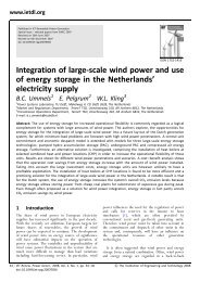 Integration of large-scale wind power and use of energy ... - We@Sea