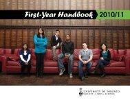 First-Year Handbook 2010/11 - Woodsworth College - University of ...