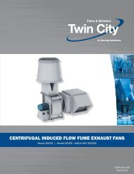 Centrifugal Induced Flow Fume Exhaust Fans - Twin City Fan & Blower