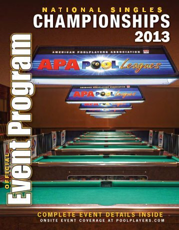 FROM THE PRESIDENT - American Poolplayers Association