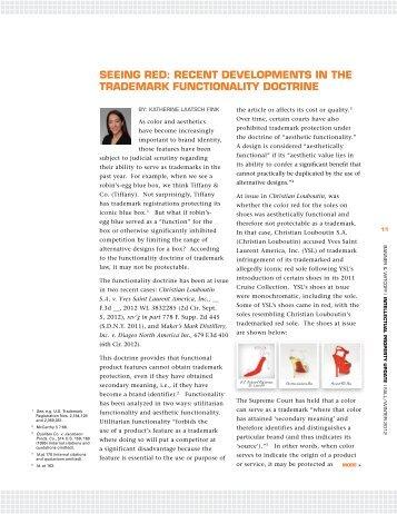 Recent Developments in the Trademark Functionality Doctrine