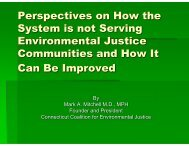 Perspectives on How the System is not Serving Environmental ...