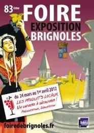 Le programme de la foire de Brignoles.