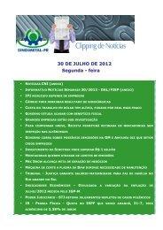 30 DE JULHO DE 2012 Segunda - feira