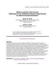 Nature and the Life Course: Pathways from - Promise of Place
