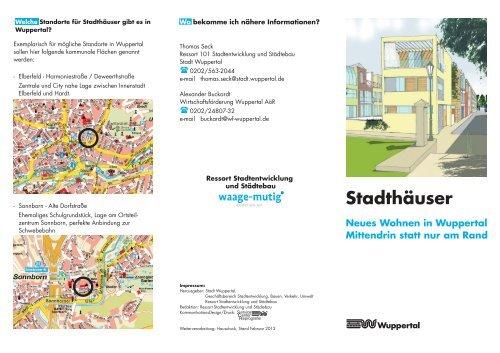 Flyer-Stadthäuser 2012-02-28 ... - Stadt Wuppertal