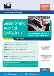 Security and Audit of UNIX/Linux - MIS Training