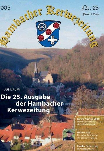 Die 25. Ausgabe der Hambacher Kerwezeitung