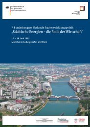 """""""Städtische Energien – die Rolle der Wirtschaft"""" - Bau"""