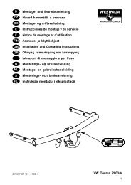 VW Touran 2003Ô D Montage- und Betriebsanleitung Návod k ...