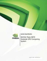 NVIDIA Tesla D870 Deskside GPU Computing System