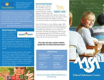 School Solutions Center - American Association of School ...