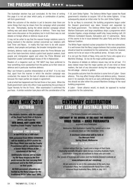 AMPHIBIOUS CLOSE AIR SUPPORT - Navy League of Australia