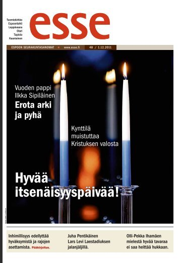 Hyvää itsenäisyyspäivää! - Espoon seurakuntasanomat
