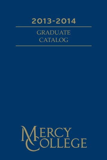 GRADUATE CATALOG - Mercy College