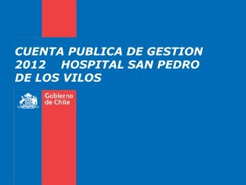 Cuenta Publica 2012 - Servicio de Salud Coquimbo - Home