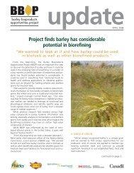 bbop update april - Western Barley Growers Association