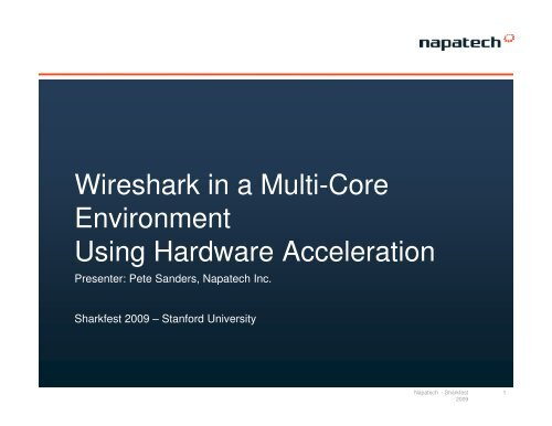Wireshark in a Multi-Core Environment Using Hardware