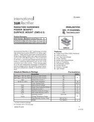 radiation hardened irhnj597z30 power mosfet surface mount (smd-0.5)