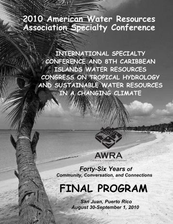 FINAL PROGRAM - American Water Resources Association