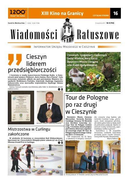 15 kwietnia 2011.pdf - Cieszyn.pl