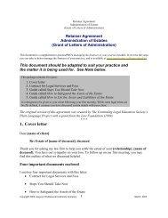 Estates Retainer Agreement - practicePRO.ca