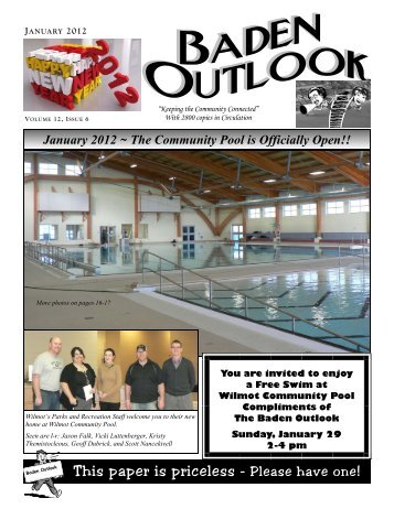 This paper is priceless - Please have one - The Baden Outlook