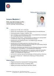 Expertenprofil PD Dr. Christian von Bary - Rotkreuzklinik Wertheim