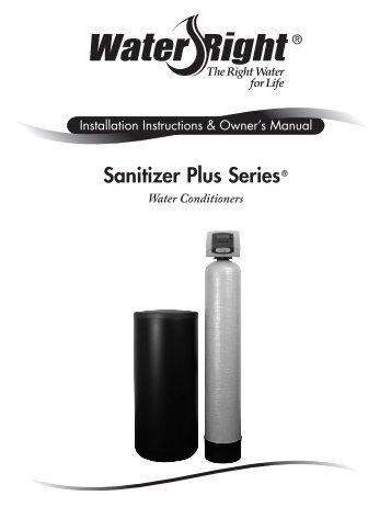 Sanitizer Plus Series Water Right
