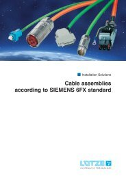 Cable assemblies according to SIEMENS 6FX standard - ThomasNet