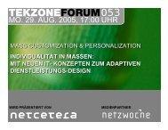 MO. 29. AUG. 2005, 17:00 UHR - TekZone