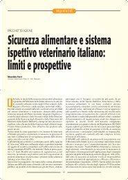 Sicurezza alimentare e sistema ispettivo veterinario italiano - SIVeMP